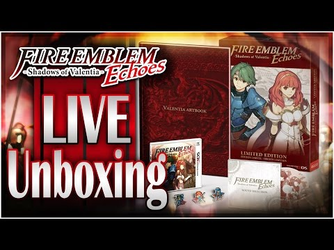Fire Emblem Echoes: Shadows of Valentia Limited Edition & Amiibo Unboxing LIVE + Giveaway!