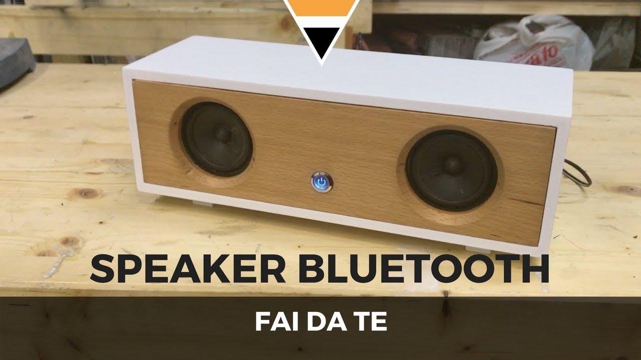Fai da te speaker bluetooth lavorazione del legno for Youtube fai da te legno
