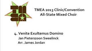 tmea all state mixed choir 2013 venite exultemus domino
