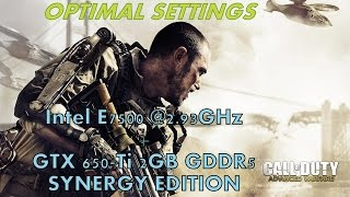 Call Of Duty: Advanced Warfare @Intel Core 2 Duo E7500 GTX 650-Ti 2GB GDDR5