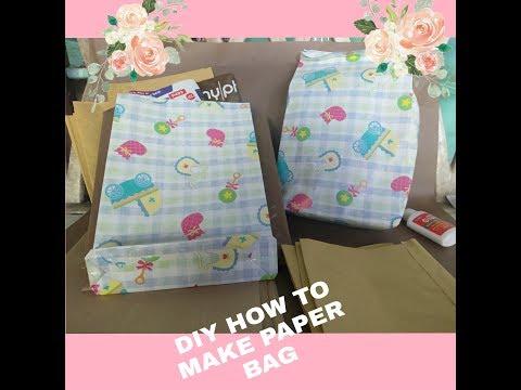 DIY HOW TO MAKE PAPER BAG AT HOME