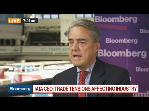 IATA CEO on Trade War, Air Travel Demand, Climate, Max Jetliner