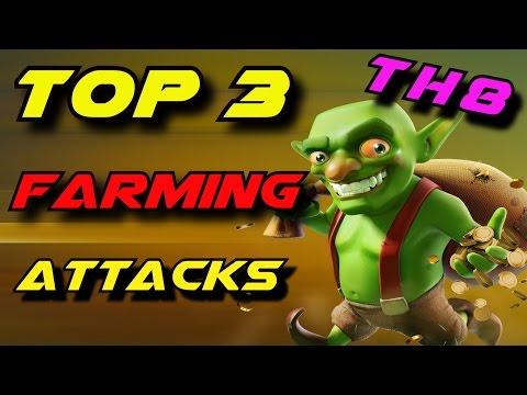 Clash of Clans Top 3 TH8 Farming Strategies 2017 | Best TH8 Farming Attacks | TH8 Farming