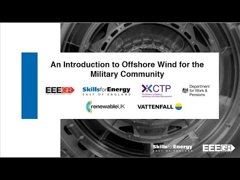 Webinar  An overview of Offshore Wind for the Military Community