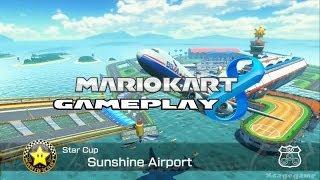 Mario Kart 8 -  Sunshine Airport   - Star Cup - Lakito Gameplay [ HD ]