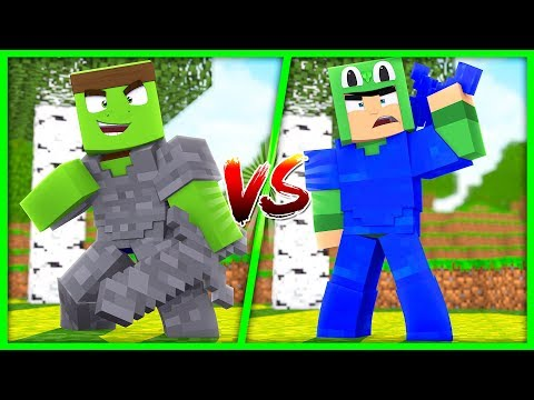 Minecraft  - WATER ARMOUR VS STONE ARMOUR CHALLENGE