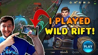 I played the League of Legends Mobile Game! [Wild Rift] - Here's everything I know!