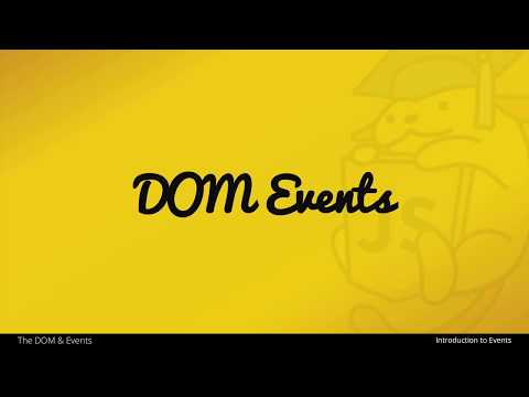 An Introduction to DOM Events with JavaScript