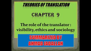 Introducing Translation Studies (Theories and applications) Jeremy Munday - Summary of Chapter 9