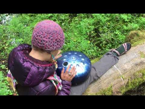 TouchToneTanks G minor jam in the Olympia Rainforest handpan steel tongue tank drum in Nature