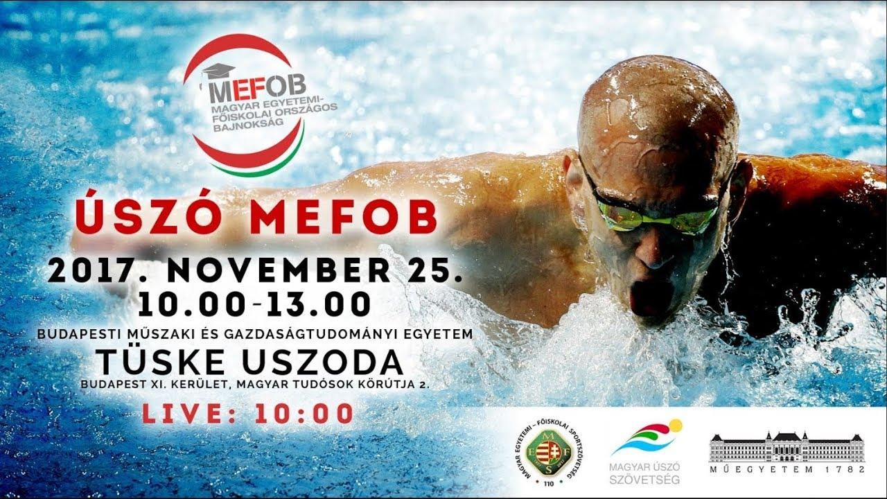 Úszó MEFOB 2018 Férfi 100 méter mellúszás - YouTube e94ec53ebe