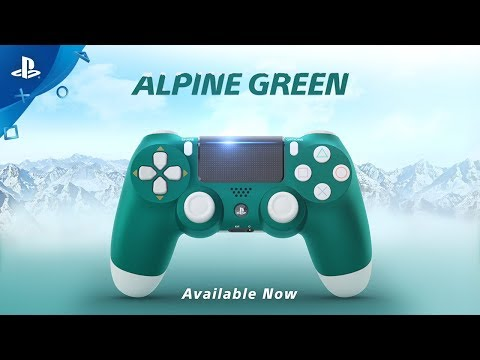 New PlayStation 4 DualShock 4 Wireless Controller - Alpine Green - Video