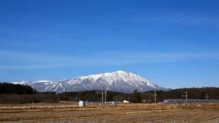 【4k】2017/1/8(Sun) E6系 秋田新幹線 こまち13号 岩手山