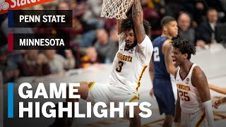 Highlights: Penn State at Minnesota | Big Ten Basketball