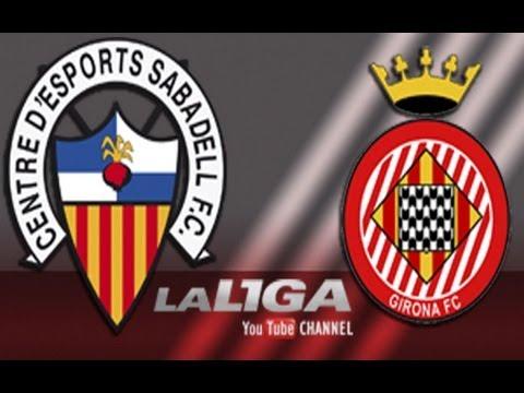 Golazo de vaselina de Lanza (4-1) en el CE Sabadell - Girona CF - HD