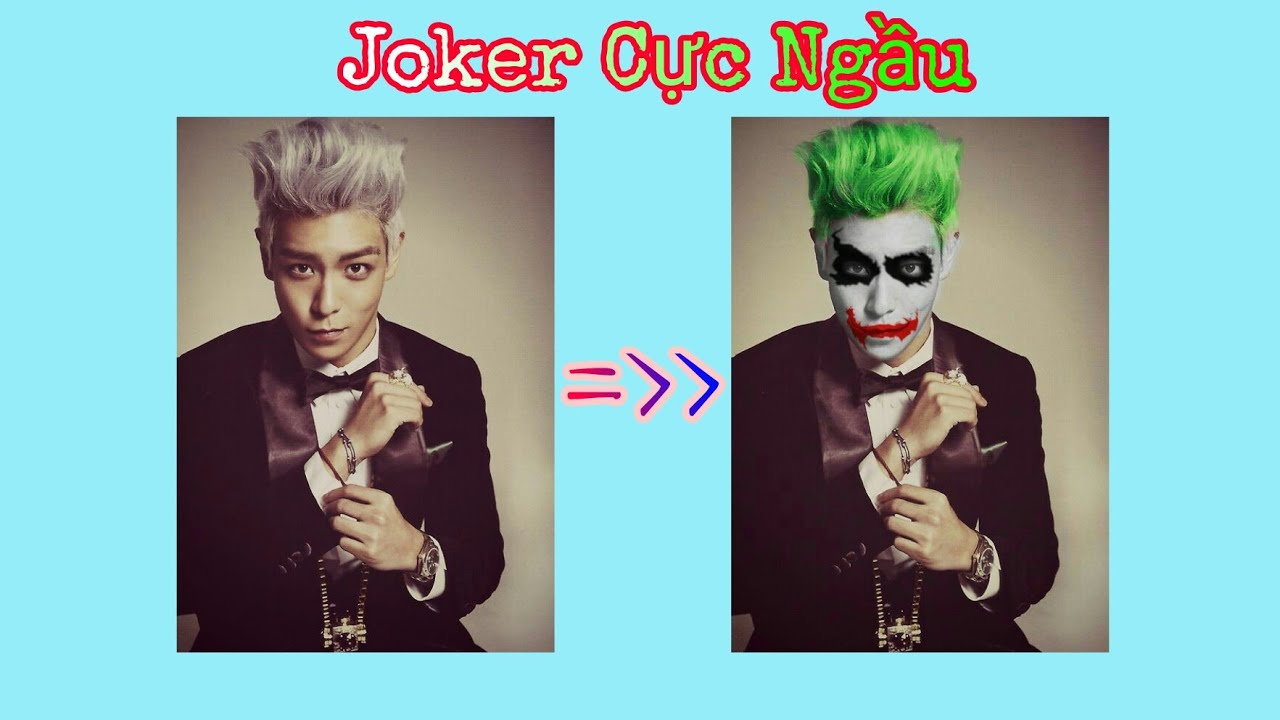 [ Picsart ] Hướng Dẫn Tạo Ảnh Joker Cực Chất Và Ngầu !