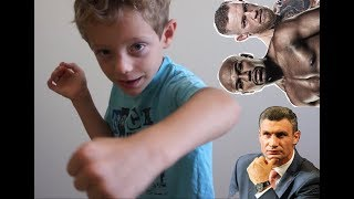 Детский бокс - левый боковой. Детские уроки бокса от начинающих и для начинающих. Иван Онлайн