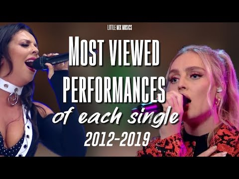 LITTLE MIX'S MOST VIEWED PERFORMANCES OF EACH SINGLE