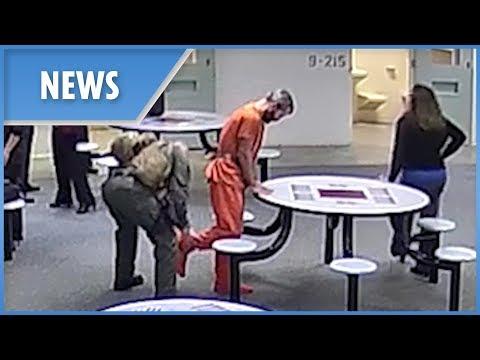 Killer dad Chris Watts pictured behind bars