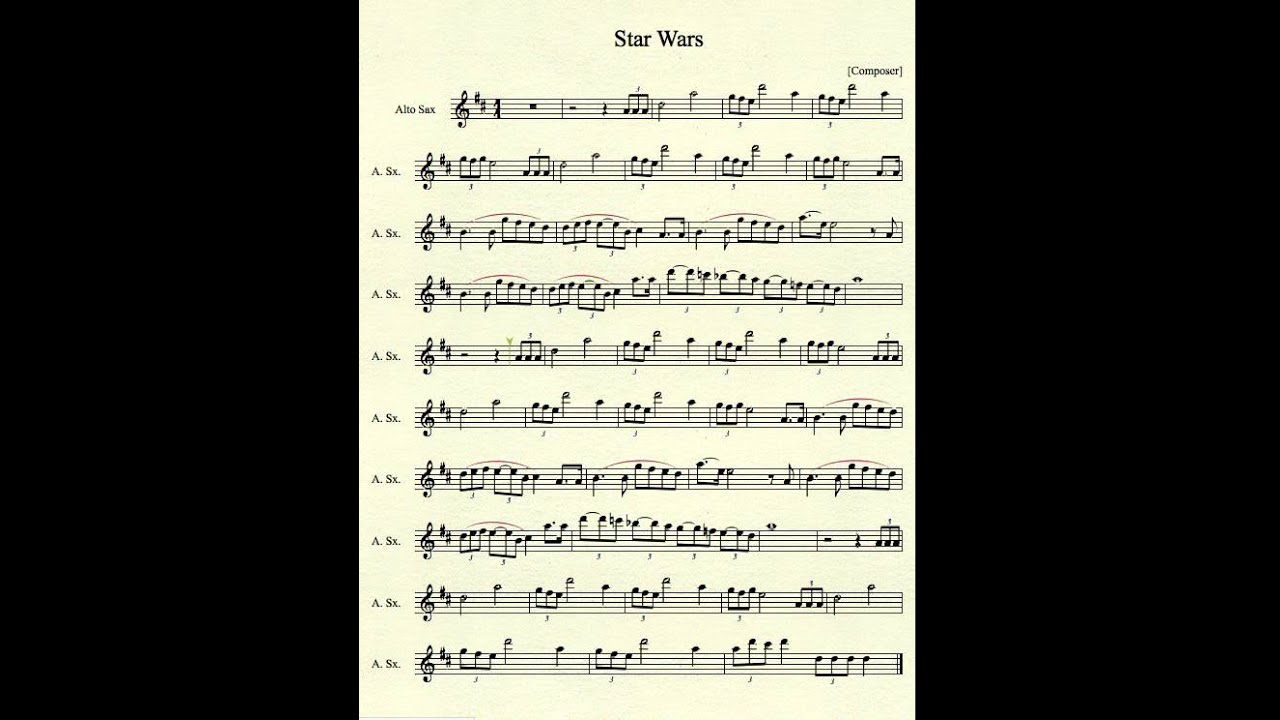 Star Wars For Saxaphone For Free 103