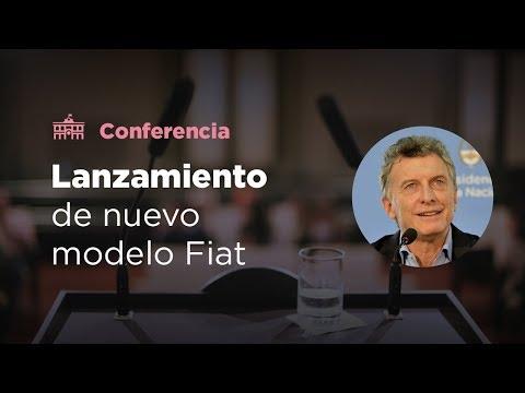 El presidente Mauricio Macri participó del lanzamiento de un nuevo modelo de Fiat
