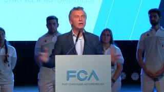 El presidente Mauricio Macri participa del lanzamiento de un nuevo modelo de Fiat