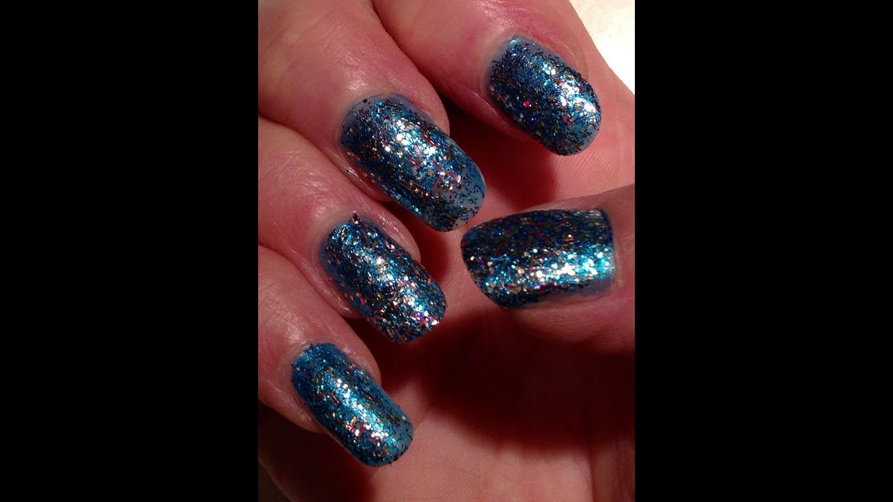 Beautiful Blue Glitter Nails -- How-to Nail Polish Style Tutorial ...