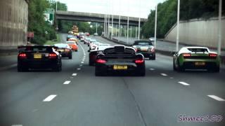 Wilton London Convoy - RUF CTR3, Mosler, MP4-12C, Viper, Lambos & Ferraris