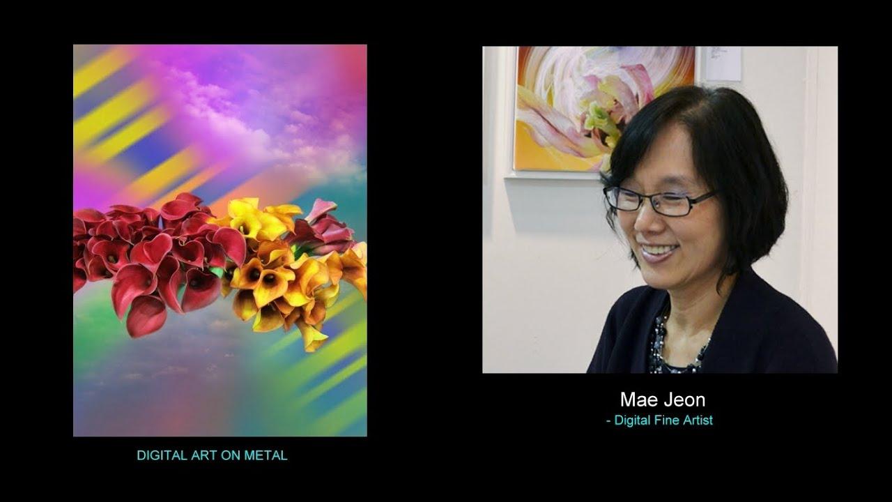 Mae Jeon - DIGITAL ART ON METAL / Floral Artwork