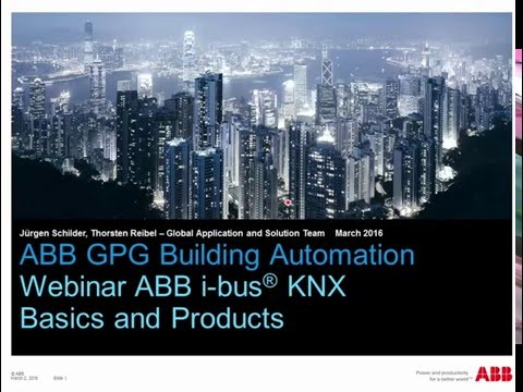 2016-03 - Webinar about ABB i-bus KNX Basics and Products