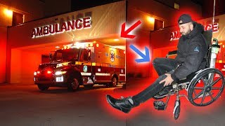 I WAS RESCUED FROM THE HAUNTED FOREST & TAKEN TO A HOSPITAL! (BROKEN LEG?) | MOE SARGI