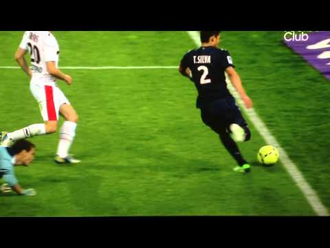 CRAZY cancelled goal from Thiago Silva (21/04/2013 PSG 3 - 0 OGC Nice)