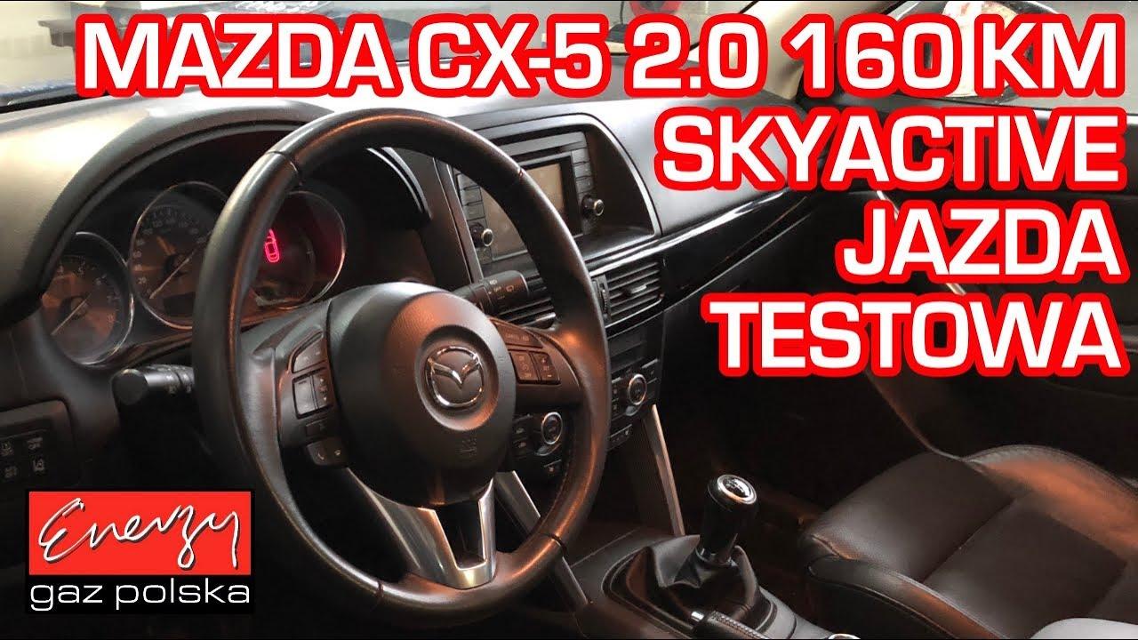 Jazda próbna testowa: Test LPG Mazda CX-5 2.0 160KM bezpośredni wtrysk w Energy Gaz na auto gaz BRC