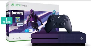 """Xbox One """"Fortnite"""" Special Edition Console Unboxing! (Dark Vertex Skin)"""