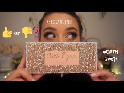 ABHxCARLI BYBEL PALETTE | SWATCHES, DEMO & REVIEW! OVERHYPED!?!? | Noelle Concetta thumbnail