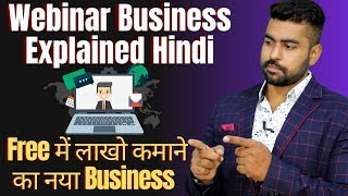 Earn 1 Lakh Rs/Month Free from this Online Business | Webinar Business in Hindi | Part Time Jobs