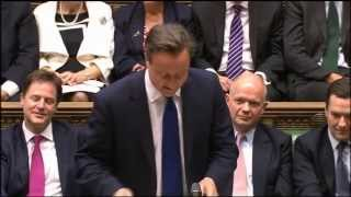 David Cameron pays tribute to Alex Ferguson in the Commons
