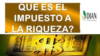 Que es el Impuesto a la RIQUEZA / DIAN Colombia
