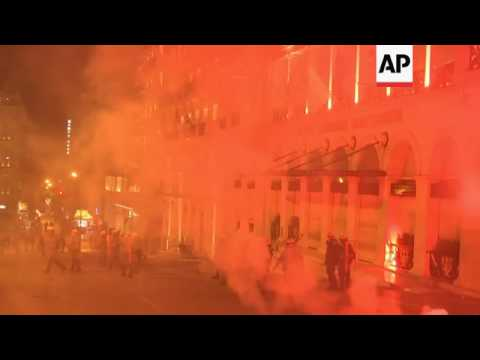 Clashes in Athens ahead of major austerity vote
