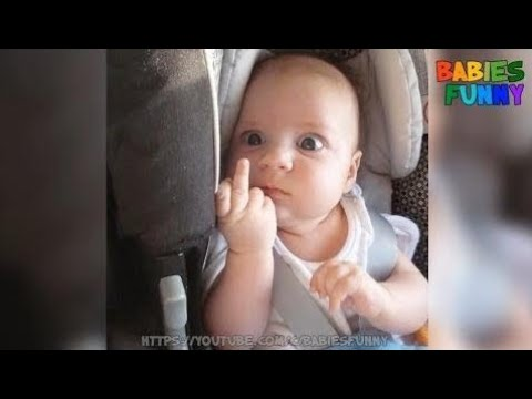 Cute Angry Baby Try Not To Laugh Funny Babiess  Funny New
