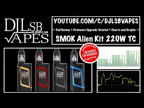 SMOK Alien Kit Full Review + Firmware Upgrade Tutorial + Charts and Graphs - DJLsb Vapes