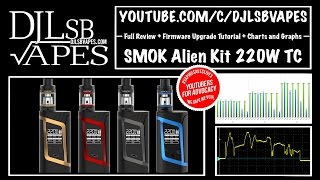 smok alien kit full review firmware upgrade tutorial charts and graphs djlsb vapes