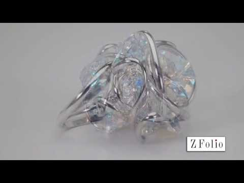 Monique Multi Crystal Ring Swarovski Aurore Boreale Rhodium MRRD8ABB