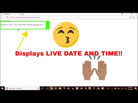 How To Display LIVE DATE And TIME In Html