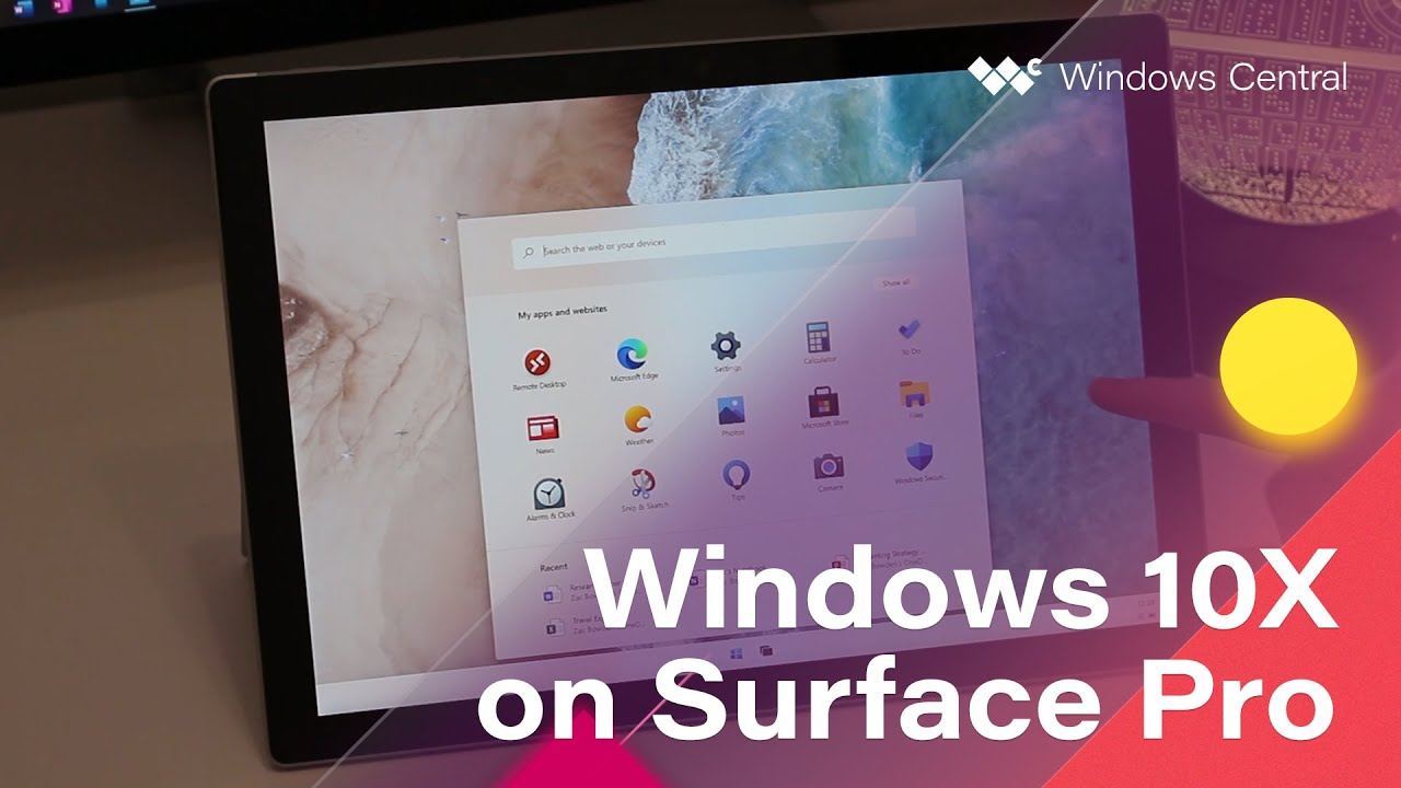 Quick Look: Windows 10X on a Surface Pro