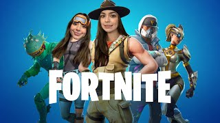 Playing Fortnite! Trying to get our first win!