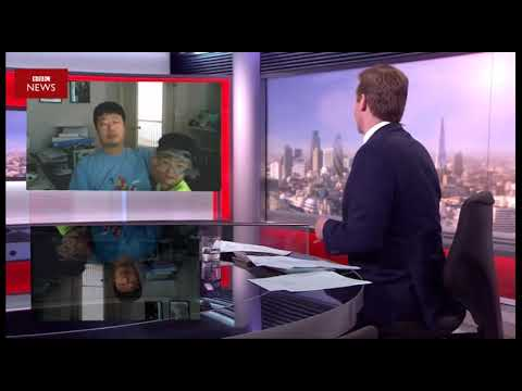 Thumbnail: Children interrupt BBC news interview (parody)