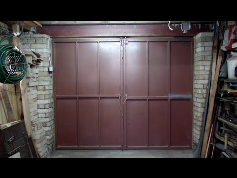 Мои дачные распашные металлические гаражные ворота сваренные своими руками