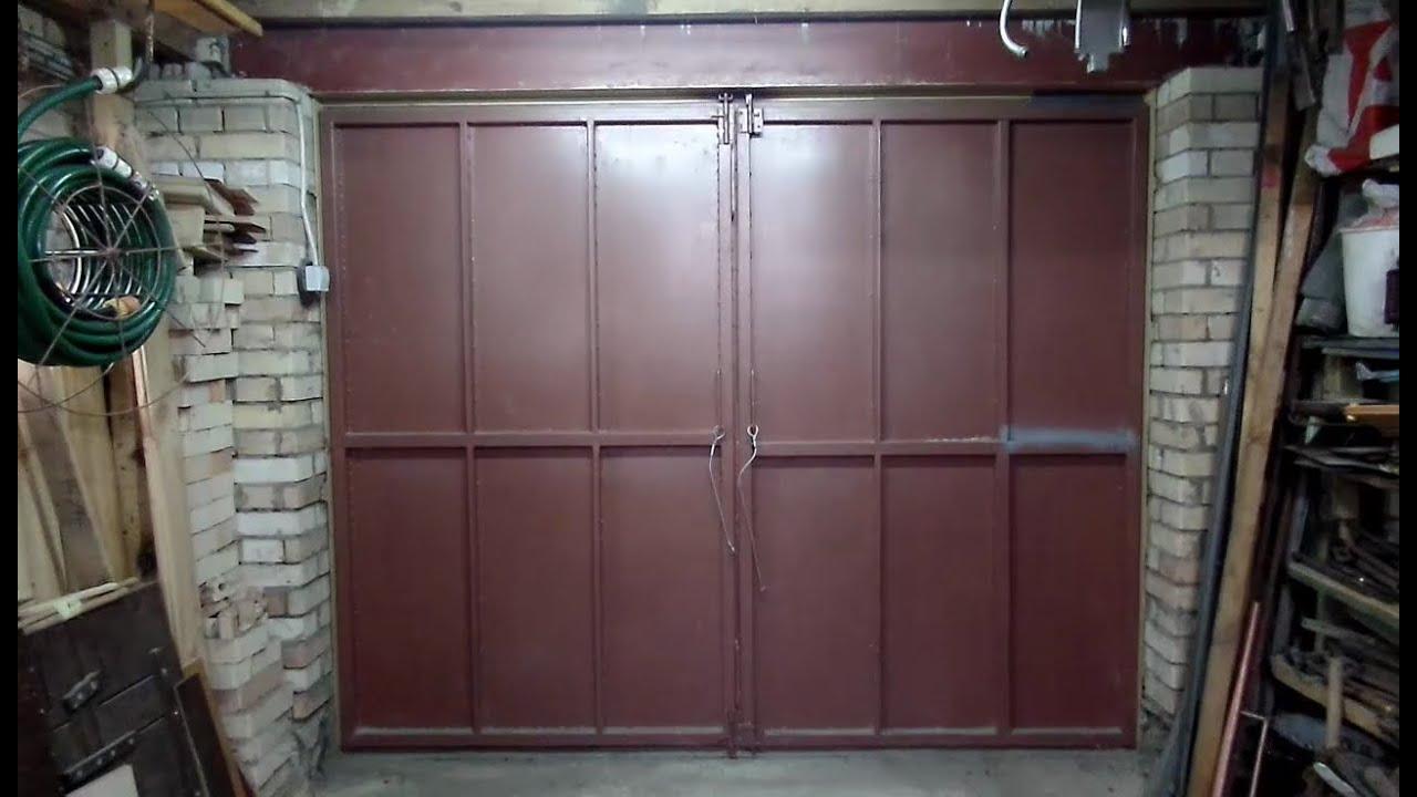 ворота гаражные своими руками чертежи фото