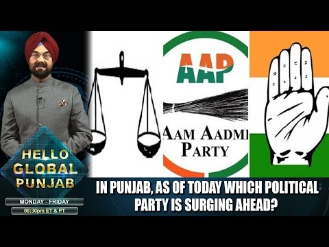 In Punjab, as of today which political party is surging ahead?